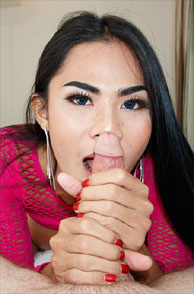 Getting A Two Handed Jerk Job From A Thai Ladyboy
